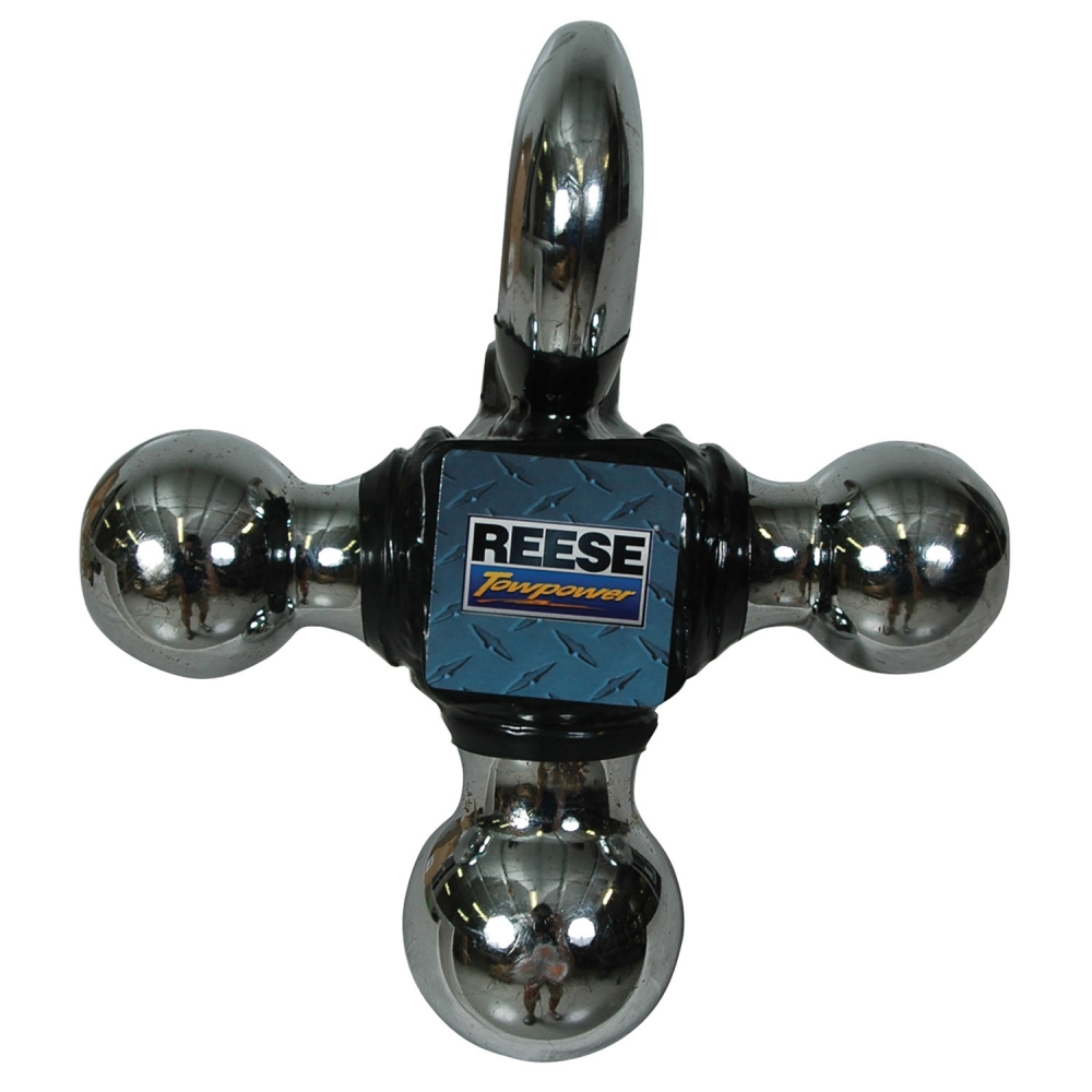Reese Towpower  Towing Tri-Ball Ball Mount with Chrome Tow Hook 7031400