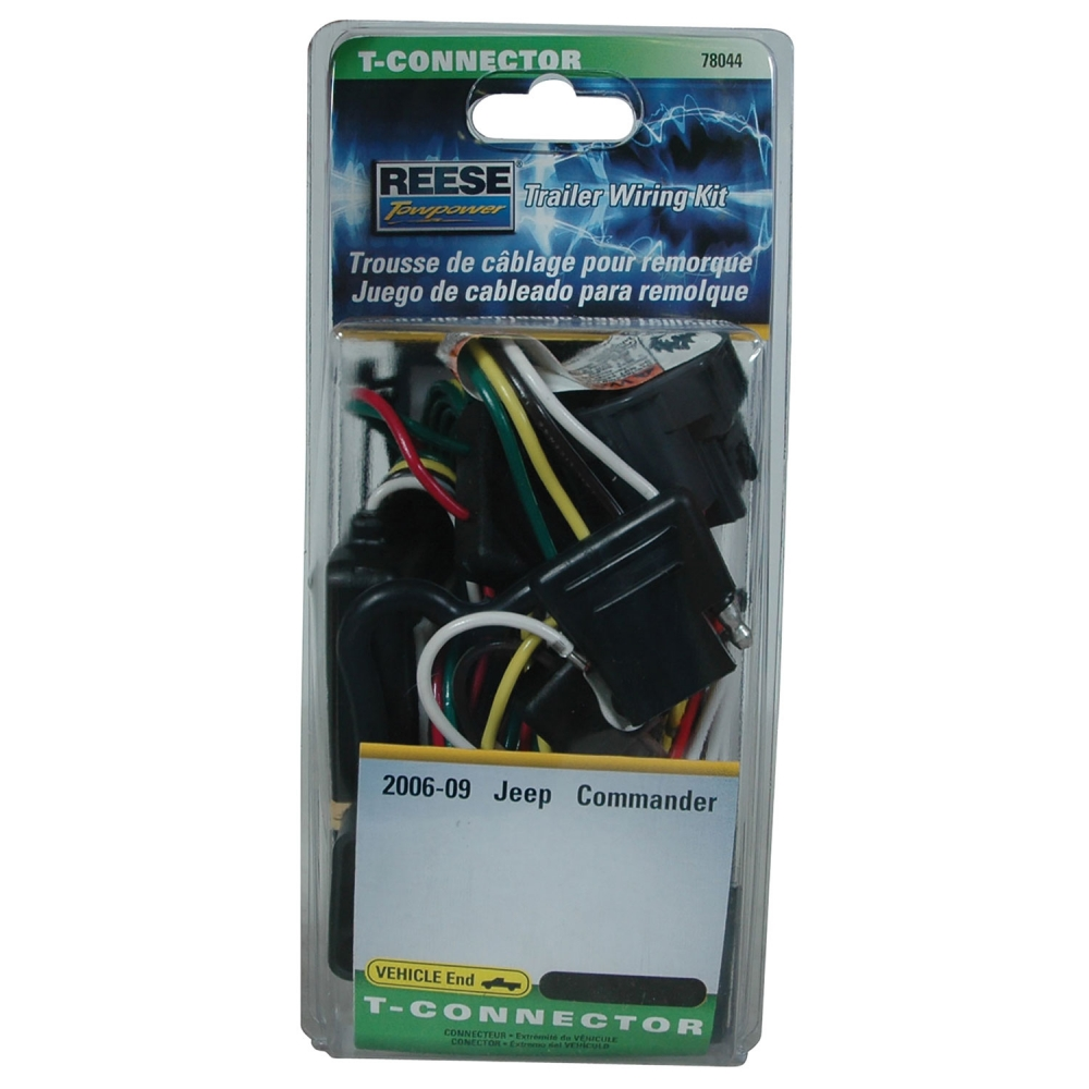 jeep commander trailer wiring reese towpower jeep commander t connector assembly 78044  reese towpower jeep commander t