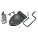 Bulldog 20K Gooseneck Coupler Kit, Includes Locking Pin Assembly, Locking Pin Cover and Labels