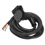 Bargman Right Angle 7-Way RV Round Tow Plug Harness Molded Car End w/ 7 ft Cable