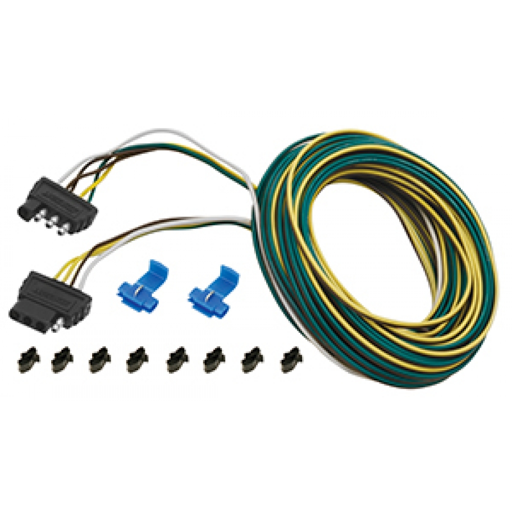 Wesbar 4-Flat Wiring Harness Tow Plug Kit Trailer End ... on